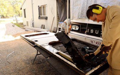 Bus Conversion Entry Door Remodel Part 1
