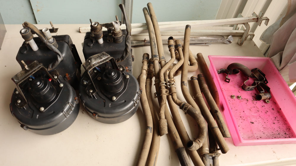 toyota coaster floor heaters and hoses