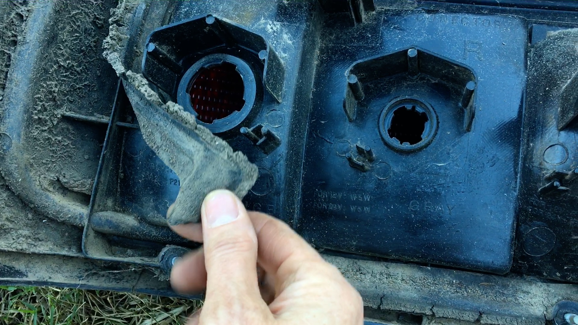 deteriorated taillight gasket