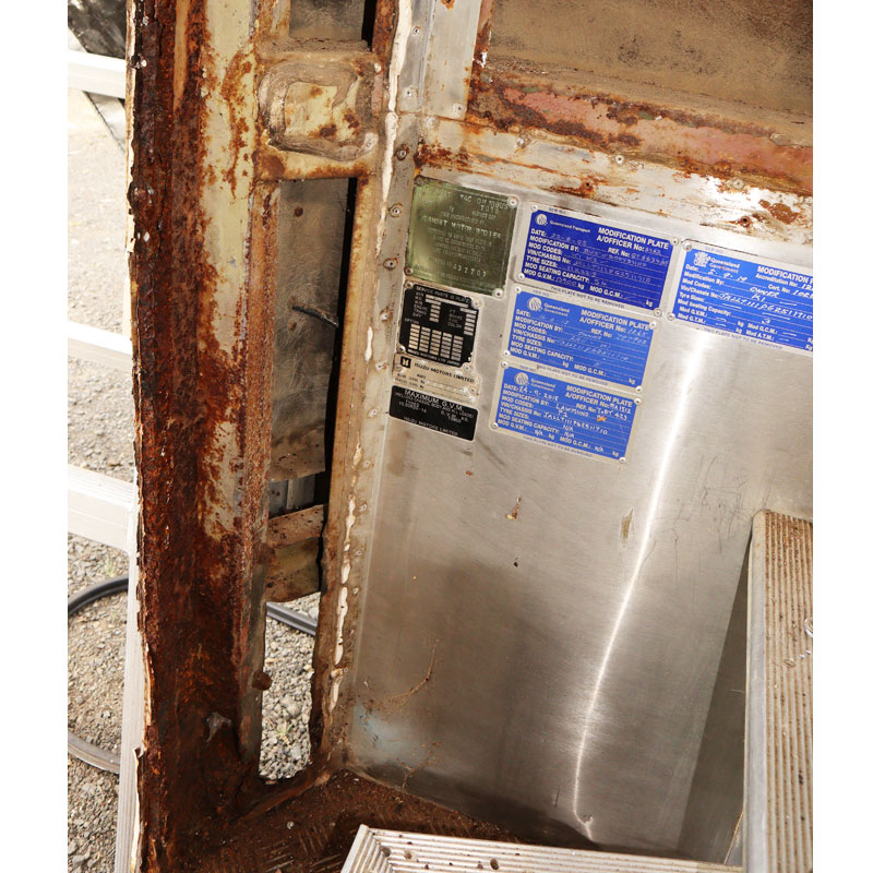 doorway with trim removed