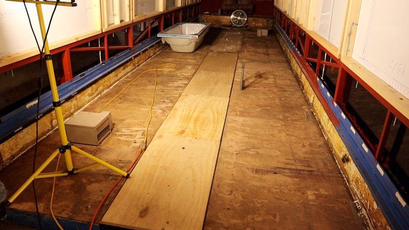 floor after vinyl removed